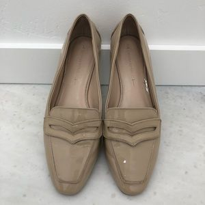 Banana Republic Nude Patent Leather Loafers SZ 10